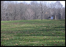 Playground and playfield by swimming pool